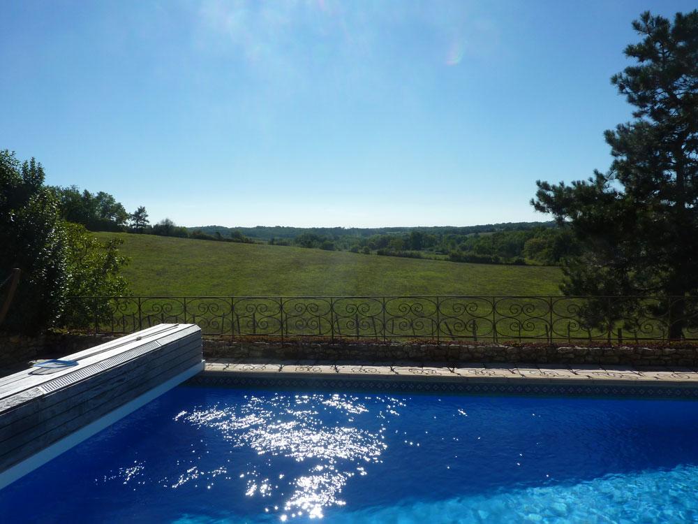 La Plumardie Basse - Dordogne - Vanuit uw privaat zwembad heeft u het mooiste panoramische uitzicht