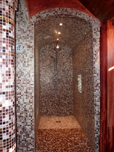 Inloop douche aan Sauna/hammam